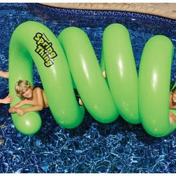 Splash Spring Think Swimming Pool Float - -A unique fun twisty pool float for endless fun