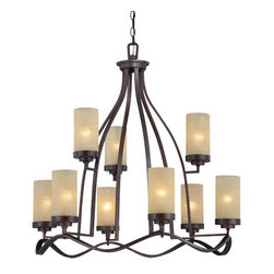 Castello 9 Light Chandelier - 9 Light Chandelier, 10ft Chain included9 Edison base lamps,each 100 W. Max.
