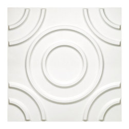 None - Donny Osmond Home 3D Self-adhesive Circles Wall Tiles - The Donny Osmond Home Circle 3D self-adhesive wall tiles create a continuous,uninterrupted sculptural wall surface with dent proof property. These wall tiles are the most cost effective 3D panels on the market.