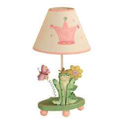 Teamson Design - Teamson Kids Princess Frog Crown Table Lamp - Teamson Design - Table Lamps - W7506A. This is a very cute hand painted desk lamp. It is hand painted and made; it will be able to brighten up any room! Made in USA only for you!