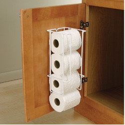 Cabinet Accessories - Door mount toilet paper holder.