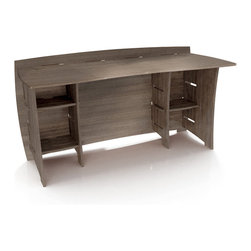 Legare - Legare Grey Driftwood Desk - This attractive and stylish desk is a great size for the small home office. Featuring a reversible design,this minimal grey desk is perfect for holding any of your books or computer peripherals.