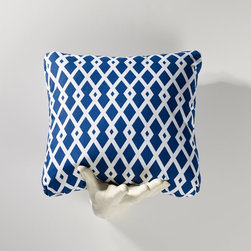 Homeware - Homeware Ultramarine Accent Pillows - Set of 2 - HWP011-18-121ULT - Shop for Pillows from Hayneedle.com! Whether you're thinking Istanbul or Corsica the Homeware Ultramarine Accent Pillows - Set of 2 carry themselves with an imperial and perhaps Mediterranean bearing. The classic crispness of deep blue and white in a geometric motif will snap the room to attention.Not available for sale in or delivery to the state of California.About HomewareHomeware is driven by an innovative spirit and a passion to change the way America buys and lives with furniture. Homeware wants to save you from shopping in a big box bringing home a smaller box and ultimately being psychologically harmed by your encounter with a slew of parts and incomprehensible assembly instructions. Instead of that Homeware supports your choice to shop in your jammies and Homeware is determined to support your success. Homeware chairs are made to live and move with you. They come to you in two pieces within two special boxes and regardless how rudimentary your handyman skills may be YOU can assemble them without tools. Within minutes they assure you you will be enjoying a chair that's as sturdy and solid as any you've beheld. The secret? It's designer and engineer Jon Koch's ingenious and revolutionary fastening device which makes possible speedy chair assembly by the mechanically uninitiated. Homeware keeps a stable of furniture savants on call 24-7 to answer your questions including but not limited to questions about their chairs and pillows and they stand behind their products with bravado.