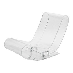 "Kartell - LCP Chaise Lounge - The exquisite ""Low Chair Plastic,"" or LCP, is a remarkable triumph of modern design. This chaise lounge is formed from a single extrusion of clear acrylic plastic which folds back on itself to create its distinctive, curved form. The design is soft, elastic and flexible to yield seating comfort and preserve the integrity of the shape over time. Available in four transparent colors, the chair's ethereal beauty belies its strength and durability. Featured in the Museum of Modern Art, the LCP is a true gem for design connoisseurs that easily takes center stage in the most elegant surroundings. Designed by: Maarten Van Severen, 1999 Features at a Glance: LCP Chaise Lounge Features: -Made of transparent or batched-dyed polypropylene. -Exclusive technology preserves purity of shape. -Made in Italy. Dimensions: -27.33"" H X 19.33"" W x 32"" D. -Seat Height: 12"". Quality: -In 2005, Kartell received accreditation for its Quality Management Systems according to the ISO 9001: 2000 standard. The attainment and preservation of this certification testifies to Kartell's commitment to high quality and continued research into higher levels of quality in company management systems.. Helping the Environment: -Kartell products use a wide variety of plastic materials, thereby reducing the use of living organisms, such as trees, which are difficult and time-consuming to replace.. -Most Kartell products are easily recycled and product components can be separated to elements made of a single material to simplify the recycling process. Plastic components also carry clear identification marks to aid correct separation of different plastic types for effective recycling.. Care and Maintenance: -Kartell products are easy to clean and require only simple care to remain in excellent condition. . Order with Confidence: -Authentic Kartell products are guaranteed to be free from defects in materials and workmanship for a period of 12 months under normal use and under conditions for which the items were designated.. -Should you discover shortly after receiving your LCP that parts are either damaged or missing, please call us immediately, and we will be happy to send you replacement parts as soon as possible and at no additional cost.. Occasionally, we have limited stock of returned Kartell products available at discounted pricing. To view our returns outlet, click here."
