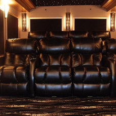 Eclectic Home Theater by CHIC Redesign