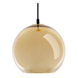 Glass Pendant Lamp in Gold - Inspired by mid-century modern design, these chic lights provide glamorous illumination in any space. Inside, each glass sphere is lined with metal to create a mirror finish, reflecting light for added brilliance.