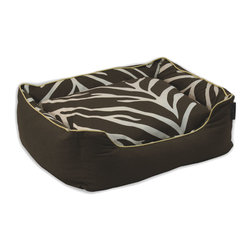ez living home - Zebra Couch Bed Cream on Brown, Medium - *Timeless and classic zebra pattern with a modern touch, complements existing room decoration.