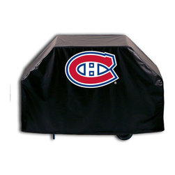 """Holland Bar Stool - Holland Bar Stool GC-MonCan Montreal Canadiens Grill Cover - GC-MonCan Montreal Canadiens Grill Cover belongs to NHL Collection by Holland Bar Stool This Montreal Canadiens grill cover by HBS is hand-made in the USA; using the finest commercial grade vinyl and utilizing a step-by-step screen print process to give you the most detailed logo possible. UV resistant inks are used to ensure exeptional durablilty to direct sun exposure. This product is Officially Licensed, so you can show your pride while protecting your grill from the elements of nature. Keep your grill protected and support your team with the help of Covers by HBS!"""" Grill Cover (1)"""