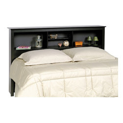 """Prepac - Sonoma Bookcase Headboard - An attractive and trendy furniture line without the trendy prices. The Sonoma collection has the look and feel of much more expensive millwork. But it doesn''t just look good, it costs less! Thoughtful engineering and intelligently grouped production let you enjoy pricing that's well below the costs of traditional case goods. Durable laminated engineered woods with contoured edges and molded trim, along with brushed nickel knobs give this ready to assemble collection a simple elegance. Features: -Durable laminated composite woods construction.-Sonoma collection.-Gloss Finish: No.-Frame Material: Laminated composite wood / MDF.-Solid Wood Construction: No.-Powder Coated Finish: No.-Hardware Material: Metal, Plastic & Wood.-Non Toxic: Yes.-Scratch Resistant: No.-Adjustable Height: No.-Wood Molding: Profiled MDF tops and moldings.-Lighting Included: No.-Reversible: No.-Media Outlet Hole: No.-Built In Outlets: No.-Number of Shelves (Size: Twin): 2.-Number of Shelves (Size: Queen, Double): 4.-Adjustable Shelves (Size: Twin): No.-Adjustable Shelves (Size: Double, Queen): Yes.-Finished Back: No.-Distressed: No.-Hidden Storage: No.-Freestanding: Yes.-Frame Required: No.-Frame Compatibility (Size: Twin): Twin.-Frame Compatibility (Size: Queen): Queen.-Frame Compatibility (Size: Double): Full/Double.-Swatch Available: No.-Eco-Friendly: Yes.-Product Care: Wipe clean with damp cloth.-Commercial Use: Yes.-Recycled Content: No .-Country of Manufacture: Canada.Specifications: -FSC Certified: No.-EPP Compliant: No.-CPSIA or CPSC Compliant: No.-CARB Compliant: Yes.-JPMA Certified: No.-ASTM Certified: No.-ISTA 3A Certified: Yes.-PEFC Certified: No.-General Conformity Certificate: No.-Green Guard Certified : No.Dimensions: -Overall Height - Top to Bottom (Size: Twin, Queen, Double): 43"""".-Overall Width - Side to Side (Size: Twin): 44.75"""".-Overall Width - Side to Side (Size: Double, Queen): 65.75"""".-Overall Depth - Front to Back (Size: Twin, Queen, Do"""