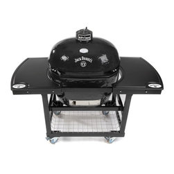 Primo - Primo Jack Daniels Edition Oval XL Grill Multicolor - 900 - Shop for Outdoor from Hayneedle.com! The Primo Jack Daniels Edition Oval XL Grill is deceptively simple in appearance but this Kamado-style grill will quickly become the star of your backyard BBQ. The shape of the Kamado along with the ceramic insulated liner seals heat in creating a perfect convection environment that cooks at heats as high as 700 degrees and as low as 150 degrees. Porcelain reversible grill surfaces ensure even heat and last much longer than typical steel grill grates. The vent at the top lends itself perfectly to slow smoking and the insulated build uses 60 percent less charcoal or wood than other grills. The huge grilling surface allows for up to 25 steaks at once. The grill itself is protected by a scratch-resistant glaze that stays cool to the touch and comes with a large handle. This is the ultimate grilling station for any backyard chef and Jack Daniels enthusiast. About PrimoBased in Norcross Georgia Primo is one of the top producers of ceramic grills and grilling accessories in the world and the only ceramic grill manufacturer in the USA. Their Primo Oval XL offers more capacity than any other ceramic cooker in the world. The oval design itself is Primo's very own patented design. All of their grills and smokers are made of a premium-grade ceramic blend and coated with a protective lead-free porcelain glaze. These superior cookers also feature a stainless steel bottom vent door and cast-iron chimney top vent. They're so confident in their craftsmanship that all Primo grills are backed by a 20 year warranty. Primo indeed.