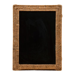 Kouboo - Wicker Framed Black Board, 18 x 24 - Talk about old school! A blackboard framed in hand-woven wicker lends a charming touch to your daily reminders. Perfect for your kitchen, office or a child's room.