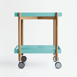 Punt Mai Tai Trolley, Natural Oak Frame/Light Green