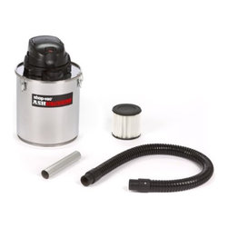 "SHOP VAC - VACS - 4041100 ASH VACUUM - SHOP-VAC ASH VACUUM  Specially designed for fireplaces, wood/-  pellet stoves, coal stoves, BBQs & more  For dry pick up of COLD ASHES ONLY  Easy to clean stainless steel tank  Powerful 6.3 Amp by-pass motor  Two-stage filtration system w/HEPA filter stops-  ashes from discharging out of exhaust  1-1/2"" dia. lock-on hose    4041100 ASH VACUUM  SIZE:5 Gal.  FINISH:Stainless Steel"