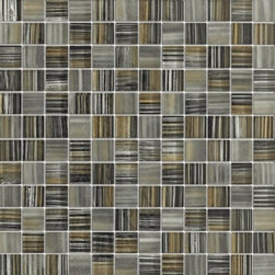 Zephyr Black & Beige Pinstrip Glossy Square Pattern Glass Mosaic Tiles, Sheet - 1 in. x 1 in. Zephyr Black & Beige Pinstrip Mesh-Mounted Square Pattern Glass Mosaic Tile is a great way to enhance your decor with a traditional aesthetic touch. This Glossy Mosaic Tile is constructed from durable, impervious Glass material, comes in a smooth, unglazed finish and is suitable for installation on floors, walls and countertops in commercial and residential spaces such as bathrooms and kitchens.