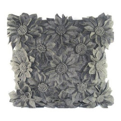 Design Accents Bloom Pillow - They say to bloom where you're planted, and the Design Accents Bloom Pillow is certain to be beautifully at home no matter where you plant it. Made of high-quality felt fabric, this trendy pillow features a unique tropical 3D design. The perfect pillow for a stunning contemporary accent no matter your decor style.
