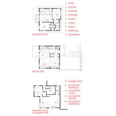 Contemporary Floor Plan by B9 Architects Inc