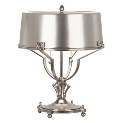 Margaux Table Lamp,Vintage Silver