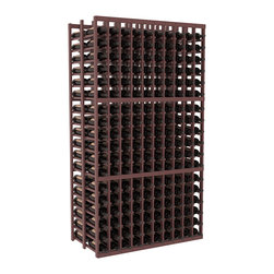 Wine Racks America - 10 Column Double Deep Cellar in Ponderosa Pine, Walnut + Satin Finish - Get the most storage with this 10 column Double Deep wine rack. Holds 36 bottles per column for a total of 360 bottles in one rack. Ideal for restaurants, bars or private collectors because our racks outlast the competition. That's guaranteed. We know you'll love this rack. That's guaranteed, too.