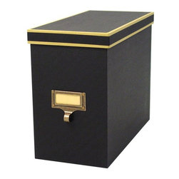 Home Decorators Collection - Cargo Atheneum File Box - Keep important files, manuals and catalogs safely stored and equally handy with the Cargo Atheneum File Box. This durable organizer is made of sturdy MDF with a sophisticated look in eye-catching color schemes and will safely store birth certificates and other important documents with ease. Get elegant storage and organization for your home decor with this purchase. Made with a double layer of fine milled, embossed paper covering the inside and outside of a sturdy high-density paper fiberboard interior.Eco-friendly product of 50% post consumer material.Features a beautiful contrasting border and distinctive black paper lining.Has an antique brass label frame with a library-style pull and label insert to identify contents.Generously proportioned and extra sturdy to accommodate many manila file folders.