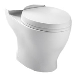 Toto - Toto CT416#01 Cotton White Aquia II Toilet Bowl - Toto CT416#01 cotton white Aquia II Dual Flush Toilet Bowl Only. The rectangular build and modern styling of the Aquia series will bring a contemporary feel and beautiful look to any bath.