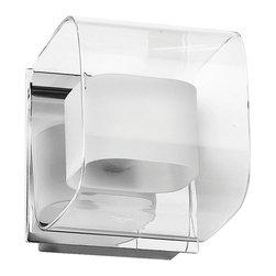 Dainolite - Dainolite 1LT Sconce CLR/FR Glass - 1 Light Sconce, Polished Chrome, Clear / Frosted White Glass