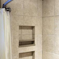 Traditional Bathroom by Susan Brunstrum of SWEET PEAS DESIGN INC