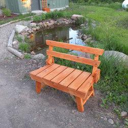 Folding Red Cedar Garden Bench -