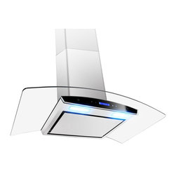 GOLDEN VANTAGE - GV 36-Inch Stainless Steel Wall Range Hood W/Flat Baffle Filter - Our Contemporary Europe design range hoods capture the most pollutants, grease, fumes, cooking odors in a quiet way but maintain a strong CFM From 300-900 depends on the style or model you choose. GV products not only provide top notch quality of material, we also offer led lighting, quiet chamber blower,adjustable telescopic chimney. All of our range hoods can convert to ventless/ductless options if outside exhaust not permitted.