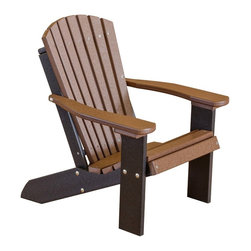 Little Cottage Co. - Heritage Child's Adirondack Chair, Cedar - Constructed of durable HDPE resin, and high quality stainless steel fasteners. No maintenance. Easy to clean.