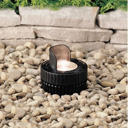 Kichler Lighting - 15092 Low Voltage MR16 In-Ground Well Light - Versatile design with reversible support sleeve to accommodate uplighting when flush mounted or angled lighting when semi-recessed. Heavy-duty polypropylene sleeve provides in-ground support.