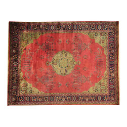 """Oriental Rug Galaxy - 8'8"""" x 11'5"""" 300 kpsi New Zealand Wool Sarouk Oriental Rug Hand Knotted - Our fine Oriental hand knotted rug collection consists of 100% genuine, hand-knotted and hand-woven rugs from Persia, China, and other areas throughout Asia. Classic, traditional, and offered in a wide range of elaborate designs, every handmade rug is guaranteed to serve as a beautiful and striking element in any interior setting."""