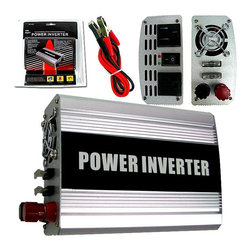 Trademark Global - 400 Watt DC to AC Power Inverter w LED Indica - Designed for use with medium-duty tools, TVs and VCRs, shop vacs and other appliances, this 400 watt DC to AC power converter will be a versatile addition to your shop or work room. The unit features LED indicator lights and heavy duty clamps that connect to your car's battery, allowing you to convert its power for home use. Continuous output power: 400 Watts. Rated input voltage: 10V - 115V. Output frequency: 59HZ-61HZ. Maximum efficiency: 85%. Low voltage alarm: 10.4-10.8VDC. Low Voltage Shutdown: 9.7V-10.3VDC. North American Standard Outlets: 2. Fuse: 25Ax2. Ideal for medium-duty application: tools, TV/VCR, shop vacs and appliances. Includes heavy-duty clamps that connect directly to vehicle battery400 Watt Power Inverter provides 2 grounded AC outlets protective covers. Connects directly to your vehicle's battery terminals (color-coded cables included). Turns your car's DC power into standard household AC power. Safety features include LED indicator lights, low voltage alarm and shutdown. Perfect for powering computers, electronics, power tools, power tool chargers, appliances, TVs, video game consoles, compact refrigerators and electric powered garden tools.