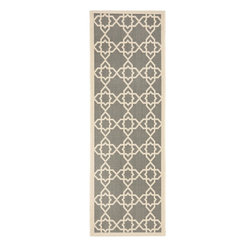 Safavieh - Safavieh Courtyard Transitional Rug X-72-642-2306YC - Safavieh takes classic beauty outside of the home with the launch of their Courtyard Collection. Made in Belgium with enhanced polypropylene for extra durability, these rugs are suitable for anywhere inside or outside of the house. To achieve more intricate and elaborate details in the designs, Safavieh used a specially-developed sisal weave.