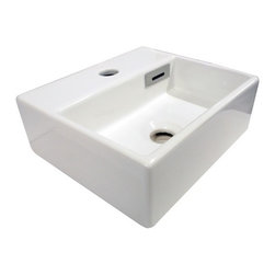 "WS Bath Collections - Quarelo 53704 Ceramic Sink 12.8"" - Space can be at a premium in some bathrooms, particularly guest bathrooms. But you don't have to sacrifice design. This small but sleekly designed basin has the contemporary feel you're looking for at a price that's affordable. Now that's Italian!"
