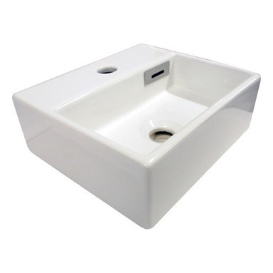 """WS Bath Collections - Quarelo 53704 Ceramic Sink 12.8"""" - Space can be at a premium in some bathrooms, particularly guest bathrooms. But you don't have to sacrifice design. This small but sleekly designed basin has the contemporary feel you're looking for at a price that's affordable. Now that's Italian!"""