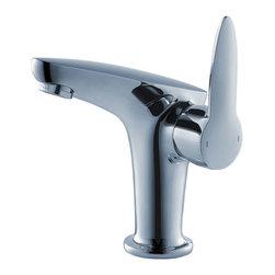 Fresca - Fresca Rienza Single Hole Mount Bathroom Vanity Faucet - Chrome - Fresca Rienza Single Hole Mount Bathroom Vanity Faucet - Chrome