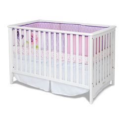 Child Craft - Child Craft London 2 in 1 Convertible Crib - White - F10031.46 - Shop for Cribs from Hayneedle.com! Designed to take you and baby through the infant days to the toddler phase the Child Craft London Stationary Crib - White is engineered for simple conversion and styled with clean simple lines to change as your needs do. Crafted from durable hardwoods to last for years of heavy use this crib and toddler bed unit saves you money worry and keeps baby cozy safe and happy. Additional information: Optional toddler guard sold separately Converts easily without sacrificing integrity of unit or pieces; simply remove front side assembly Non-toxic baby-safe finish on all pieces All assembly screws fit into metal bushings so you may safely convert this bed as many times as necessary Crib mattress sold separately Assembly required; includes instructions and all necessary hardware Manufacturer's limited lifetime warranty About Child CraftFounded in 1911 in Salem Indiana Child Craft Industries is a family-owned American company synonymous with quality and value. Manufacturer of cribs and children's furniture the company is very strongly committed to product standards and safety and combines beautiful design and innovative features with sturdy construction and superior craftsmanship. The principles of quality and integrity that served to guide the company for nearly 100 years remains unchanged even today and Child Craft continues to be a respected name in children's furniture.