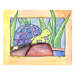 Oh How Cute Kids by Serena Bowman - High Jump, Ready To Hang Canvas Kid's Wall Decor, 20 X 24 - Each kid is unique in his/her own way, so why shouldn't their wall decor be as well! With our extensive selection of canvas wall art for kids, from princesses to spaceships, from cowboys to traveling girls, we'll help you find that perfect piece for your special one.  Or you can fill the entire room with our imaginative art; every canvas is part of a coordinated series, an easy way to provide a complete and unified look for any room.