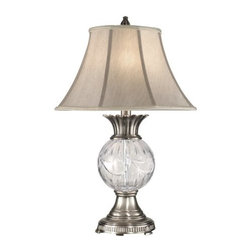 Dale Tiffany - Dale Tiffany GT80119 1 Light Adriana Crystal Table Lamp - Traditional / Classic 1 Light Adriana Crystal Table Lamp with Fabric ShadeFeatures:
