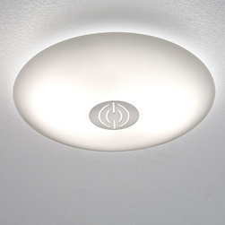 Holtkoetter - Holtkoetter   Opalika® Small Ceiling Fixture No. 3502/2 - Schott OPALIKA® Milchüberfangglas generates a light that is similar to natural sky lighting: it optimally diffuses the light with hardly any shadows. The Small Ceiling Fixture No. 3502 features double-layered glass made with a polished clear layer on top of a white flashed opal layer of glass. The fixture has a very low profile, while providing a substantial amount of light.Manufactured by Osram GmbH. Select from two shade cap styles, available in Polished Nickel, Antique Brass, Brushed Brass, Hand-Brushed Old Bronze, Polished Brass and Satin Nickel finishes.