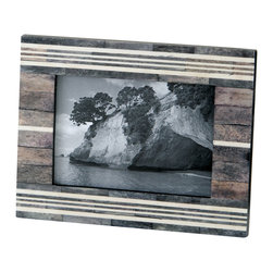 Lazy Susan - Gray and White Frame - Gray and White Horn and Bone Frame