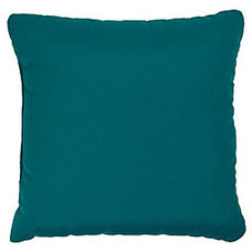 Teal 22-inch Knife-edged Outdoor Pillows with Sunbrella Fabric (Set of 2) | Over