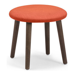 Zuo Modern Contemporary, Inc. - Edgewater Stool Sunkist - For folks who don't want any of that cushion nonsense, but still want some color, the Edgewater Stool is the solution. Slim wood legs support a slim fabric wrapped surface. Comes in sunkist, mustard or aqua.