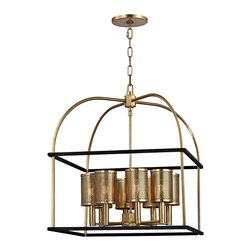 HUDSON VALLEY LIGHTING - Hudson Valley Lighting Vestal-Chandelier Aged Brass - Free Shipping