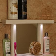 Contemporary Showers by Bathroom Tile Shower Shelves