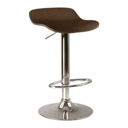"""Winsome - Kallie Air Lift Adjustable Stool in Cappuccino (Set of 2) - Features: -Set of two adjustable stools. -Cappuccino metal finish. -Material: MDF / metal. -Some assembly required. -Dimensions: 33.61"""" H x 15.2"""" W x 16.73"""" D."""