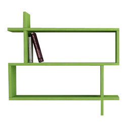 Decortie - Paralel Wall Shelf by Matte - Simple and effective, this wall mount bookcase boasts a contemporary and angular design that is perfect for displaying your favorite books and decorative pieces, featuring two spacious compartments, it is sure to add character to your home effortlessly.