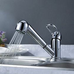 Kitchen Sink Faucets - Solid Brass Pull Out Kitchen Faucet--FaucetSuperDeal.com