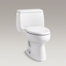 KOHLER - KOHLER Gabrielle(TM) Comfort Height(R) one-piece elongated 1.28 gpf toilet with - With straightforward design and exceptional flushing performance, the Gabrielle Comfort Height toilet makes a versatile, functional addition to your bathroom space.  This one piece toilet offers an easy-to-clean design and elegant proportions.