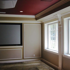 traditional media room by david phillips